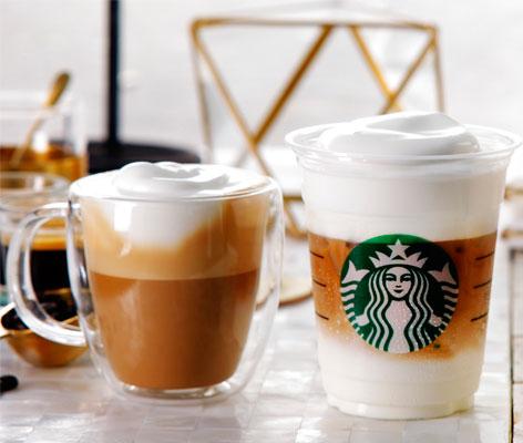 星巴克,慕斯形式拿铁咖啡