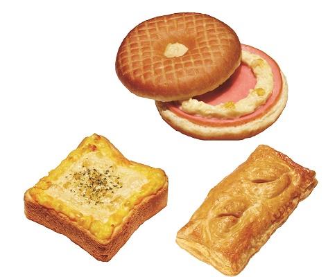 先生Donut Savory Sand Donut Hamcorn Topping Hot Toast玉米和鸡蛋芝士Hot Savory Pie Ham和Simmered Egg Spicy Salsa Cheese Dog