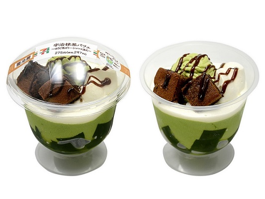 Seven Eleven Uji Matcha Parfait-Hoji Tea with Gato Chocolat-