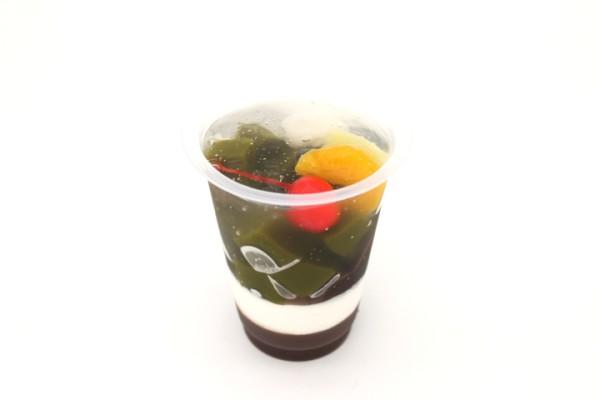 抹茶とあずきのとろりんジュレパフェ