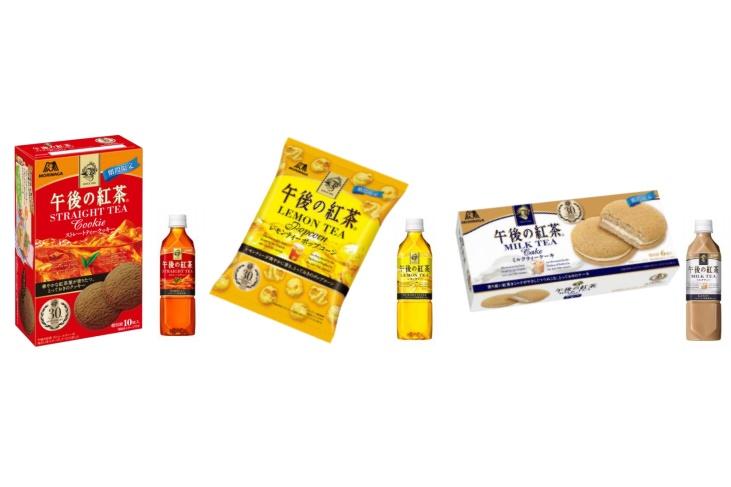 「キリン 午後の紅茶」定番の3フレーバーが森永の焼き菓子に!