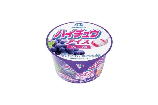 森永製菓のソフトキャンデー「ハイチュウ グレープ味」とコラボしたアイス。