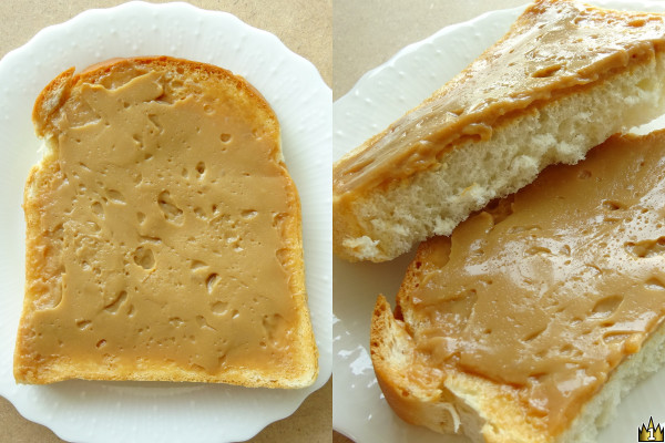 山食のふちまでみっちり濃厚滑らかクリームを塗った菓子パン。