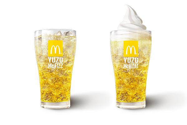 【これは期待!】マクドナルドから秋の新ドリンク♪「マックフィズ ゆず」、「マックフロート ゆず」
