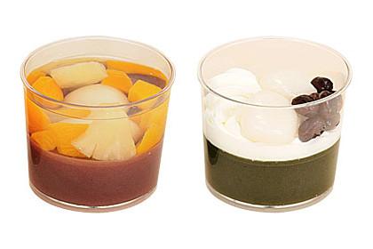 ファミリーマート「フルーツ水ようかん」「クリーム抹茶水ようかん」