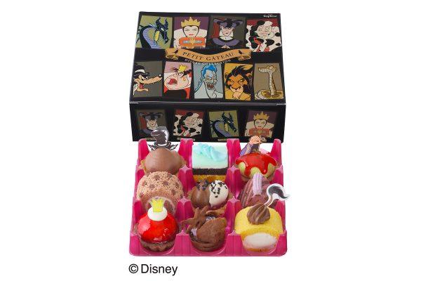 ディズニーの悪役たちをかたどった、9種類のプチケーキ詰め合わせ