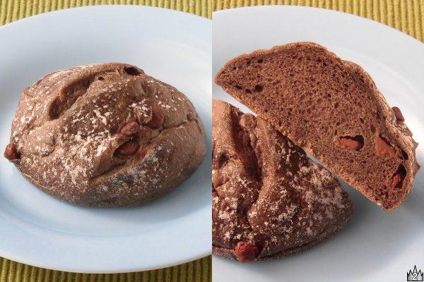 フランスパン専用粉の生地にカカオを練り込み、もっちりした食感に仕上げたパン