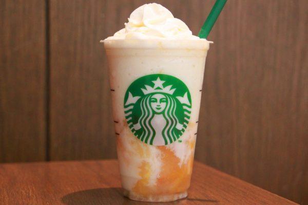 【黄桃と白桃】まるで桃のケーキ!スタバ「ホワイトチョコレート&ピーチクリームフラペチーノ」