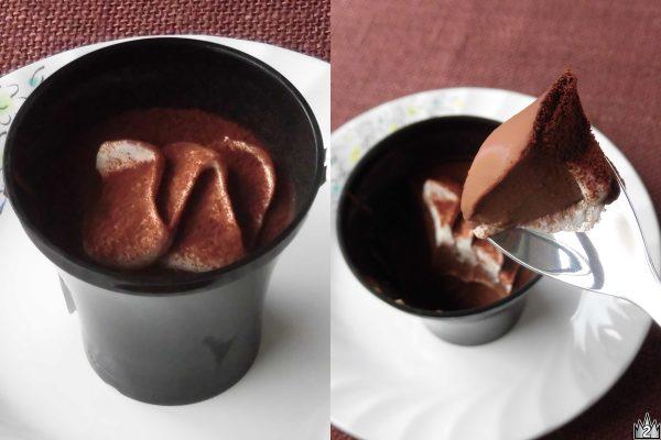クーベルチュールチョコに牛乳や生クリームを合わせた、スプーンで食べる濃厚でとろける食感のチョコスイーツ