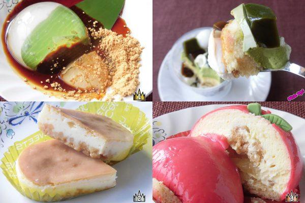 3位:セブン-イレブン「カスタードホイップとリンゴのケーキ」、2位:ローソン「ぎゅっとクリームチーズケーキ」、ピックアップ:ローソン「宇治抹茶とほうじ茶の和ぱふぇ」、1位:ローソン「ぷるるん水ゼリー」