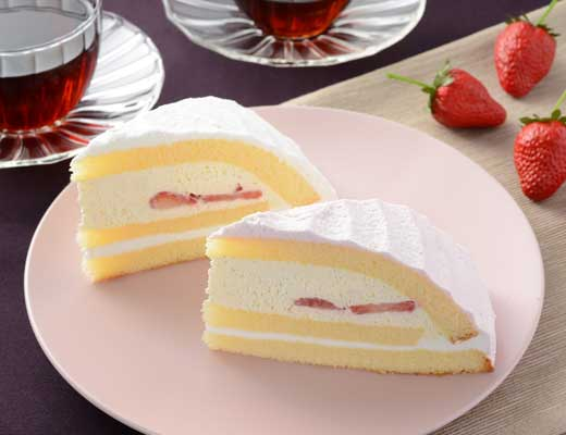 ローソン、苺のボンブケーキ 2個入