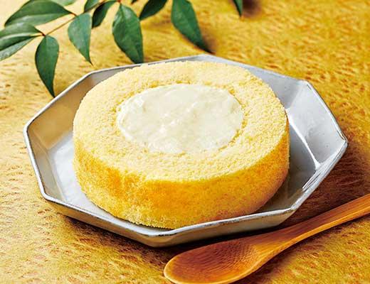 ローソン、UchiCafe' SWEETS × 八天堂 カスタードくりーむロールケーキ