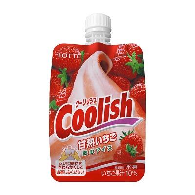 ロッテ 練乳ミルクバーいちご クーリッシュ 甘熟いちご