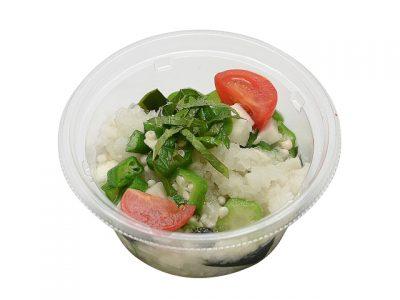 混ぜて食べる!オクラと長芋のねばねばサラダ