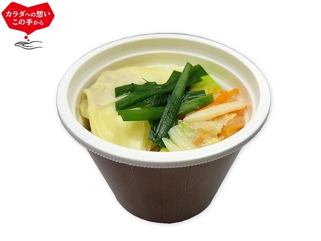 野菜と一緒に ワンタンスープ セブン