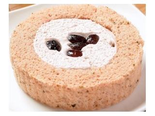 ローソン プレミアム桜と大納言のロールケーキ