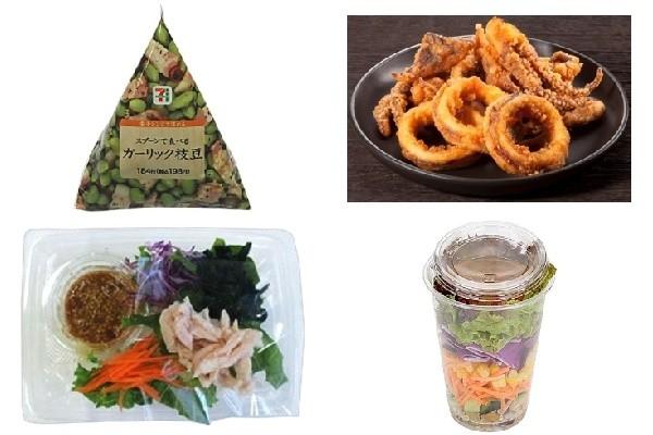 新発売のコンビニお惣菜:セブン「スプーンで食べるガーリック枝豆」ほか